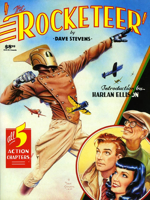 """Dave Stevens' """"Rocketeer"""": Rockets Posters, Graphics Novels, Rockets The Quasi Pulp, Action Chapter, Comic Books, Comicgraph Novels, Dave Steven, Comicbook, Fonts Ideas"""