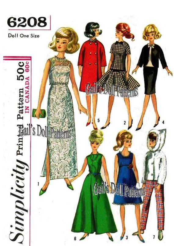 Barbie Wardrobe Simplicity #6208 by GailsDollEPatterns on Etsy