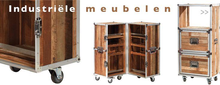 Industriële Meubelen van hardhout, gerecycled hout, en van mataal - Berlano.nl Interieur & Tuinmeubilair
