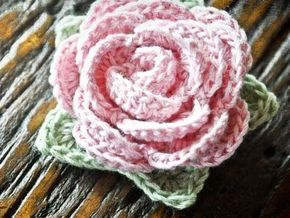 Crochet rose pattern. I used size 10 crochet thread and it came out great.