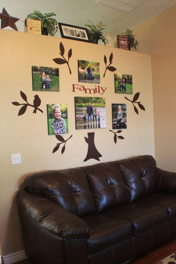 Vinyl Family Tree Wall Decal - Neat idea for a nursery!
