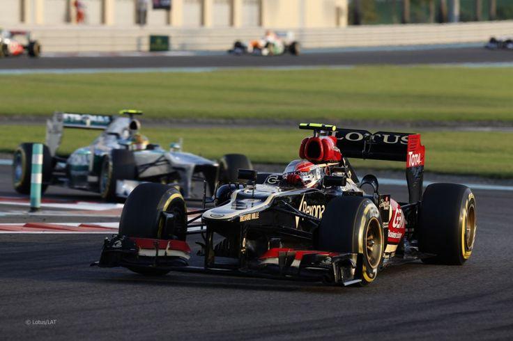Romain Grosjean, Lotus, Yas Marina, 2013