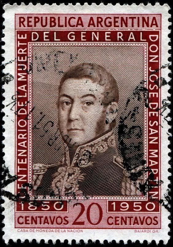 Engraved by BaiardiArgentina588SanMartin8-17-1950