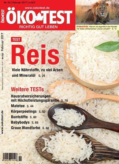 #Reis - viele #Nährstoffe, zu viel #Arsen und #Mineralöl 🤢 🍚  Jetzt in @oekotest:  #Produkttest #Ökotest #Verbraucher