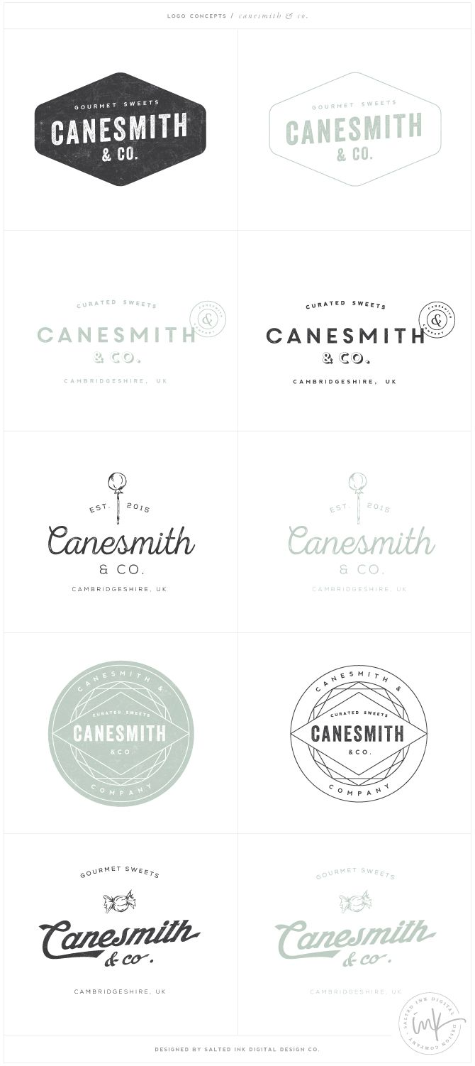 Canesmith & Co. Logo Concepts - Designed by Salted Ink Design Co. | logo design, concepts, retro, brand styling, brand stylist | www.saltedink.com