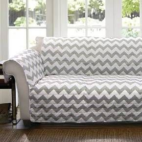 Protect your home from harm with the stylish Chevron Furniture Protectors Grey/White Loveseat. This furniture protector is placed over your loveseat when it's not in use, so the color doesn't fade and the material doesn't ware out. It's a great way to protect your home when you leave for a while, and it makes coming home simple and exciting.