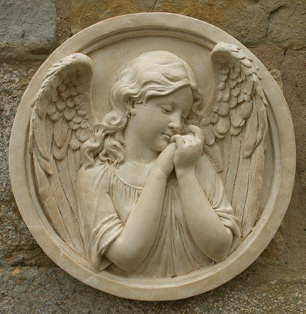 Price £38.99 d-30cm Have a look at this Sleeping Angel Round Wall Plaque page from the Cherub & Angel Wall Plaques department at Marble Inspiration