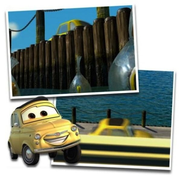 Hidden Disney Characters- as you can see Luigi *Cars* is in the movie Finding Nemo