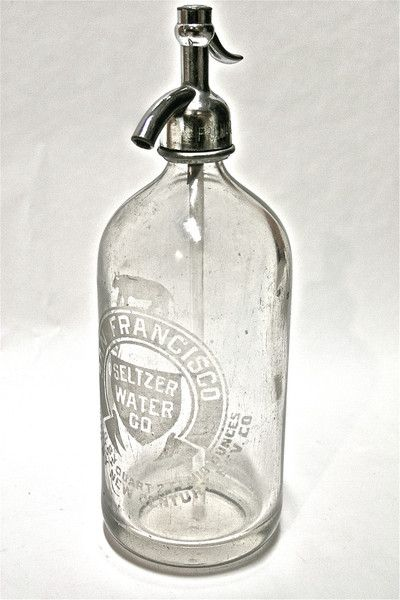 Vintage San Francisco Seltzer Water Co. Bottle - I like seltzer water and club soda and Perrier and San Peligrino. Then again, I also like the taste of alka-seltzer.