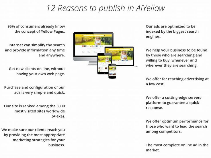 Your NR 1 UPDATED online Business Directory AiYellow! http://www.aiyellow.com Best online marketing idea