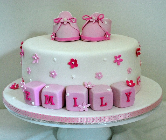 Cake Designs For Baby Dedication : Emily s Baptism Cake Baby dedication cakes Pinterest ...
