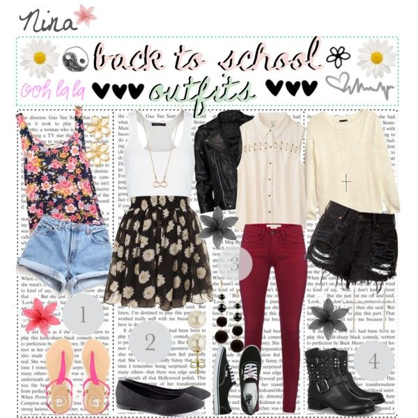 back to school outfits ♥