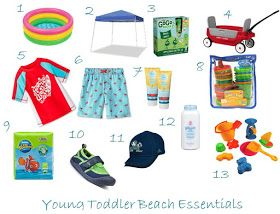 Young Toddler Beach Essentialshttp://adventuresofloveandmarriage.blogspot.com/2015/06/young-toddler-beach-essentials.html?m=1