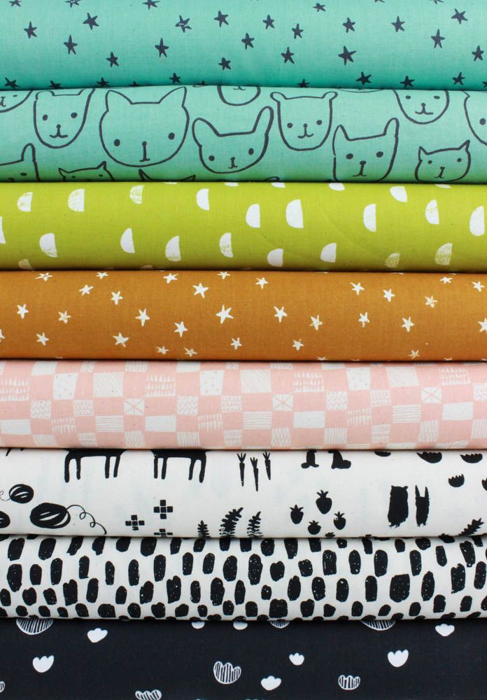 Alexia Marcelle Abegg for Cotton and Steel, Print Shop, Subtle in FAT QUARTERS 8 Total