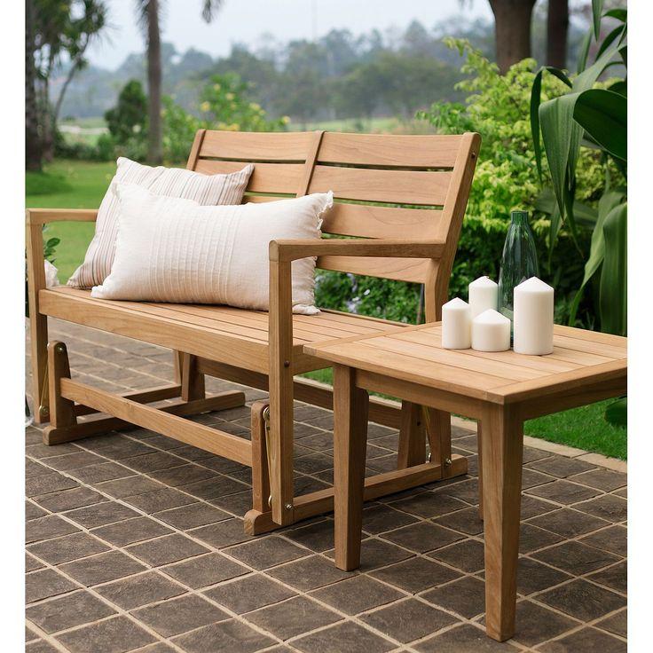 Madison Teak Glider Bench Teak bench, Outdoor furniture