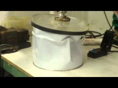 Small Vacuum Chamber Imploding, Thin wall vacuum chamber- the effect. Applied Vacuum Engineering