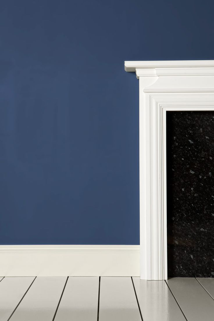 "blue and white dining room in the house next year.  i think this is the perfect color - farrow and ball's ""pitch blue"""