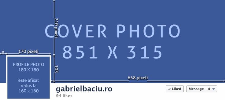 Facebook layout pentru cover și profile picture