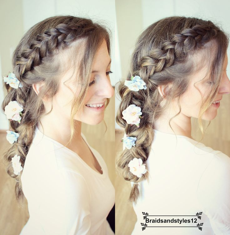 A beautiful  DIY Spring/ Summer Braid with flowers  by Braidsandstyles12 :) Comment below if you'd like a tutorial :) Youtube : https://www.youtube.com/channel/UC8ouEGIBm1GNFabA_eoFbOQ