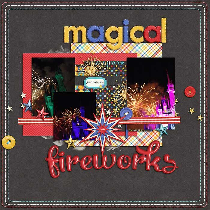 Layout: Magical Fireworks