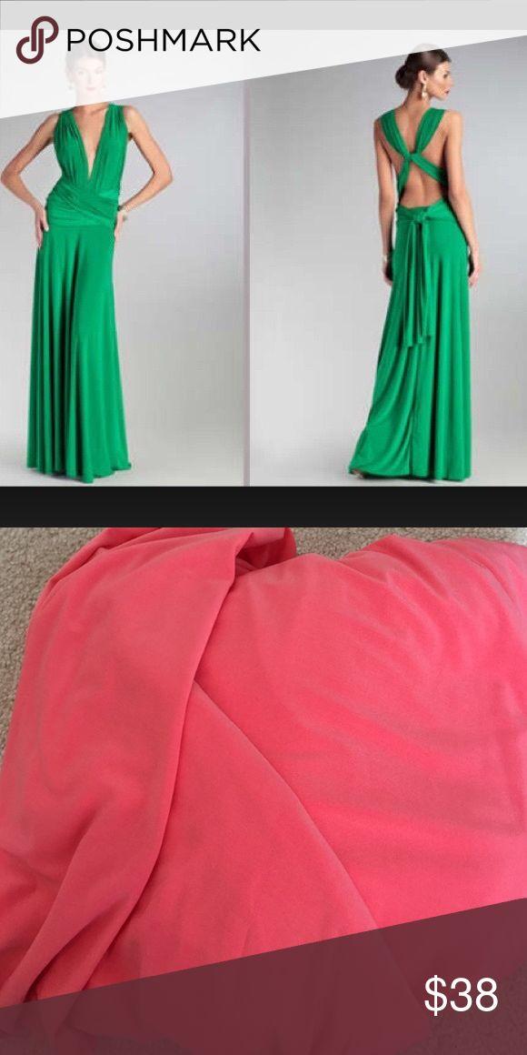 Von Vonni Transformer Dress CORAL Von Vonni Transformer Dress CORAL - image is to show how to wear -ONESIZE FITS ALL Dresses Maxi