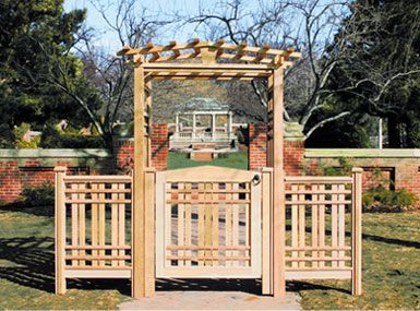 Garden Gate Arbors Designs a garden arbor with inner arch bracing and custom gate Gate Design Idea