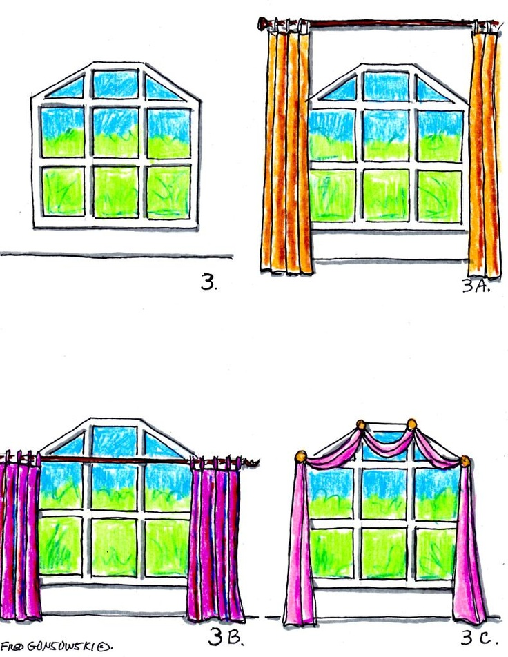 hanging valances curtains and drapes on different kinds of windows