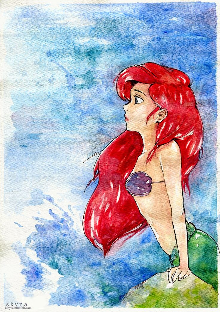 I love how this painting captures Ariel wanting to be Part Of Our World!!