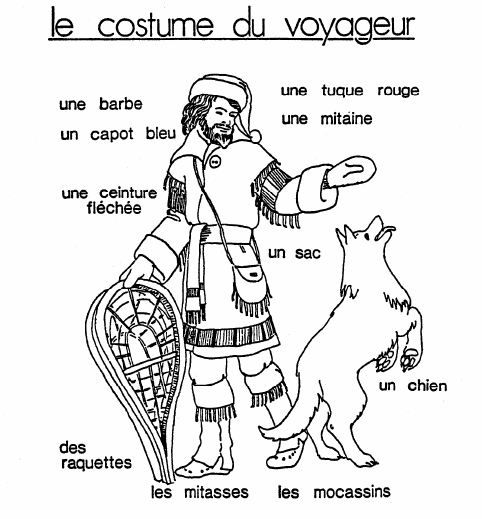 fur trade coloring pages - photo#12