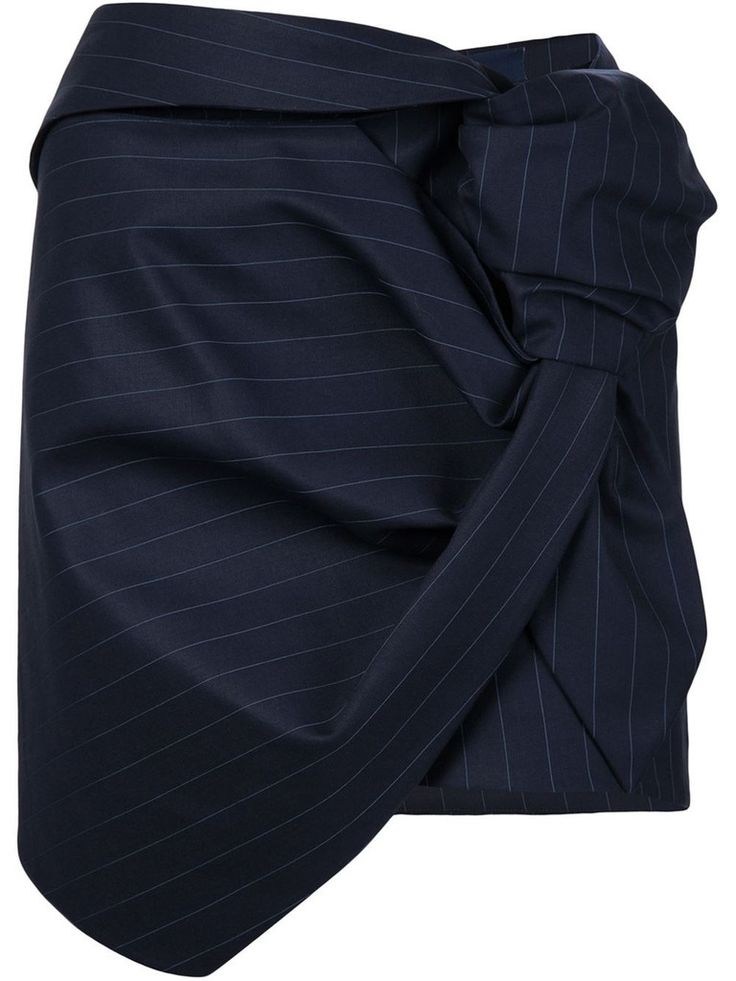 La Jupe Cravate Skirt in Navy