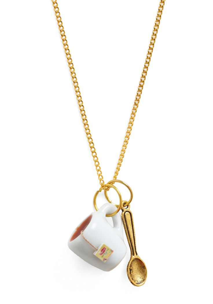 cup of tea necklace, i almost didn't like this but then i saw the lipton teabag detail & that made it irresistible