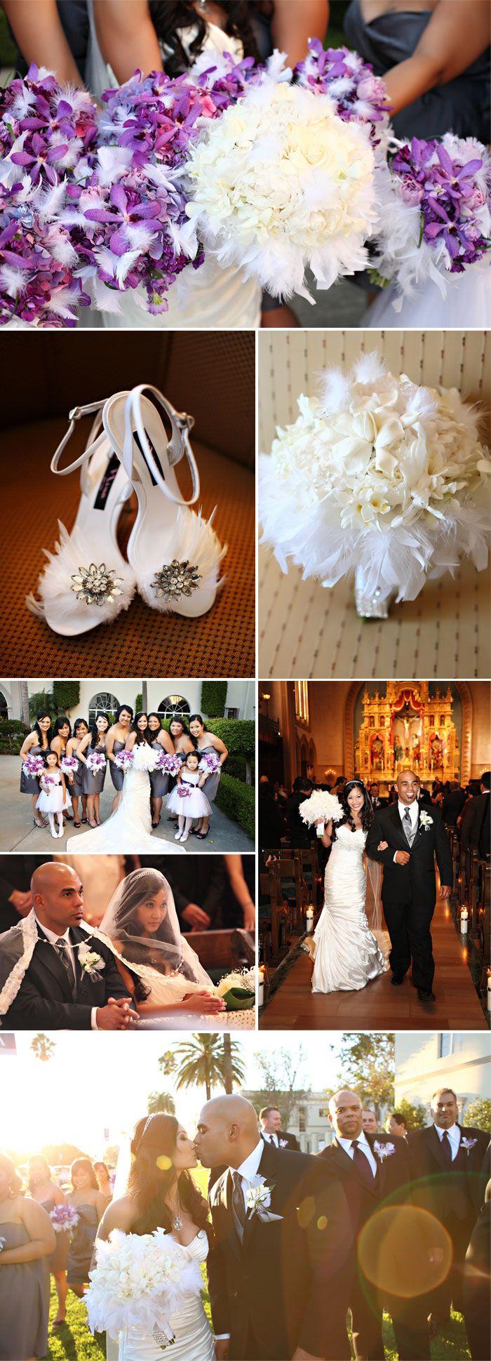 126 best PurpleGray Wedding images on Pinterest Marriage Gray