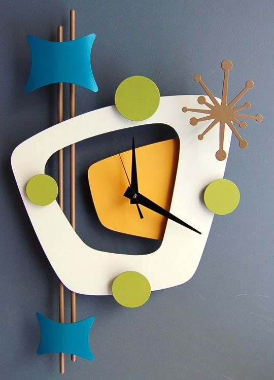 Atomic Age Style Wall Clock by Steve Cambronne