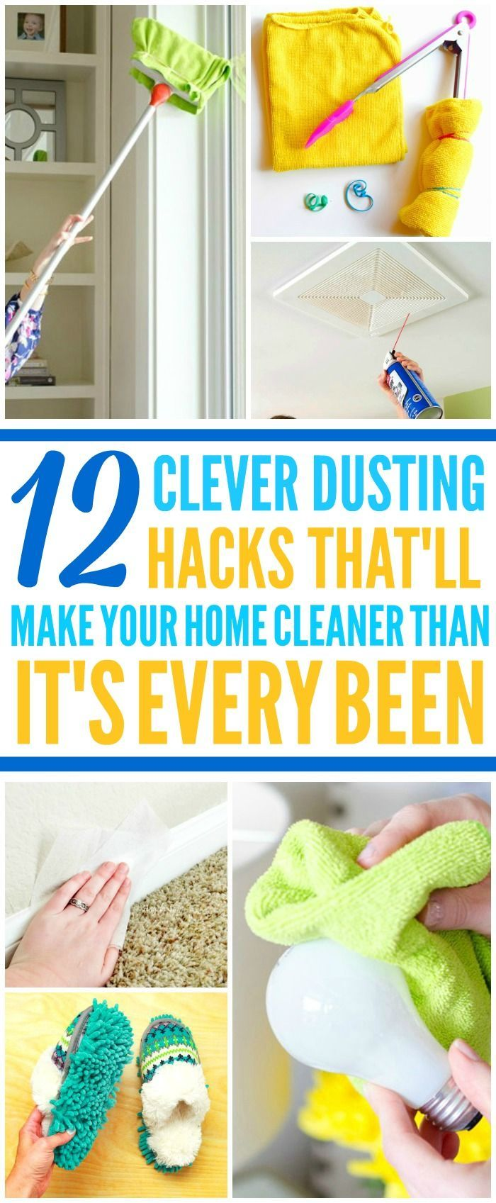 These 10 brilliant and easy dusting hacks are THE BEST! Now I have some GREAT ways to clean my home! These cleaning tips and hacks make cleaning my house so much quicker and easier! Definitely pinning!