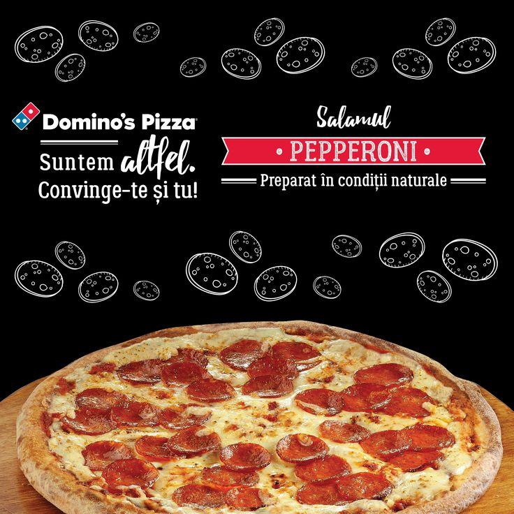 De ce este asa gustos pepperoni de la Domino's? Deoarece isi pregateste intrarea in scena timp de 21 de zile, maturat natural, la fix pentru a-ti potoli dorinta de ospat cu un ingredient numai bun de infruptat.