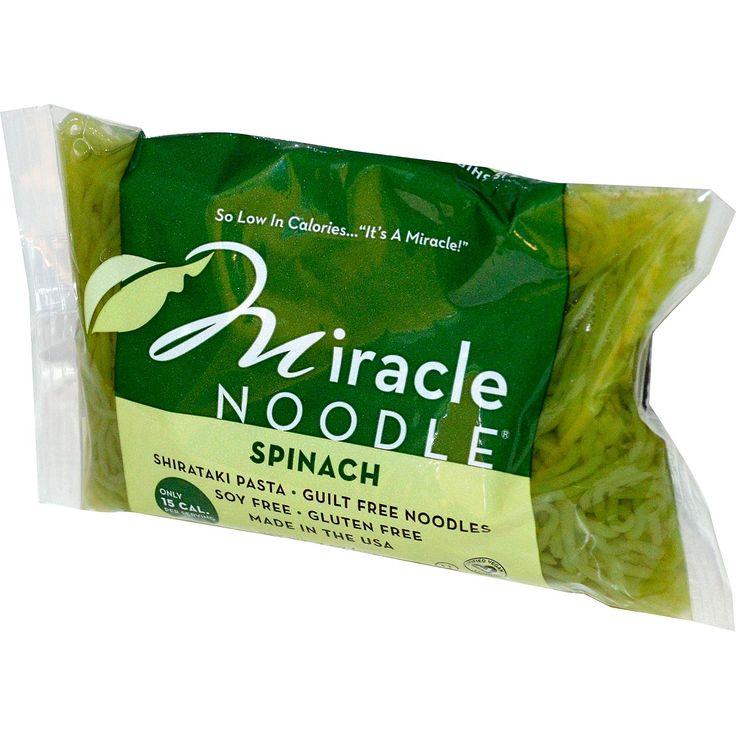 Miracle Noodle, Spinach, Shirataki Pasta, 7 oz (198 g) - iHerb.com
