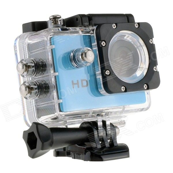 "EOSCN A7 HD Waterproof CMOS 5.0MP Wide Angle Lens Sports Camera w/ 1.5"" LCD / 900mAh Battery - Blue From 59,= for Euro 30,25"