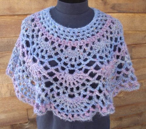 groovy granny poncho | Over 100 Free Crocheted Poncho Patterns
