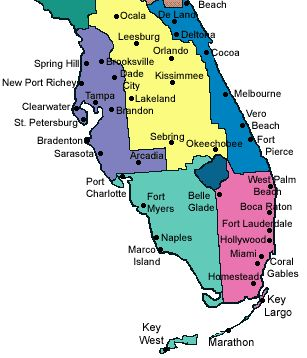 Florida City County Map.Map Of Florida Cities Map Of Florida Cities Map Of Florida