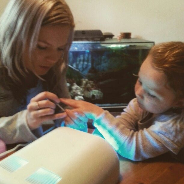 @nicole6760  doing Peytons nails for our wedding xx