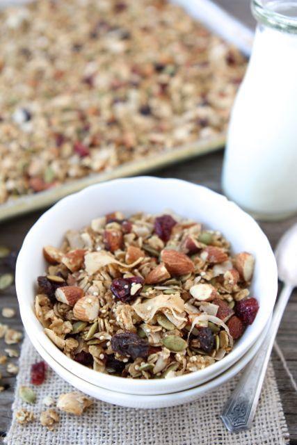 Crunchy Quinoa Granola from www.twopeasandtheirpod.com #recipe