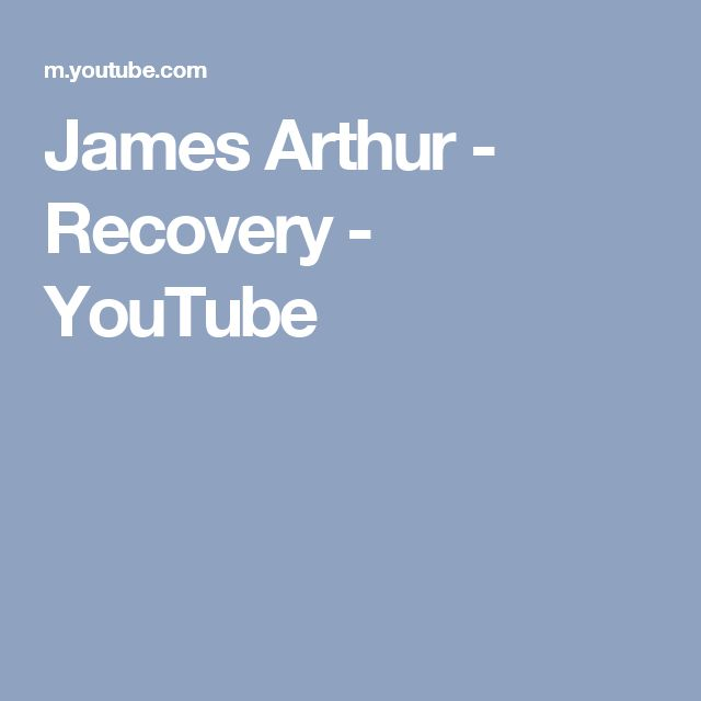James Arthur - Recovery - YouTube