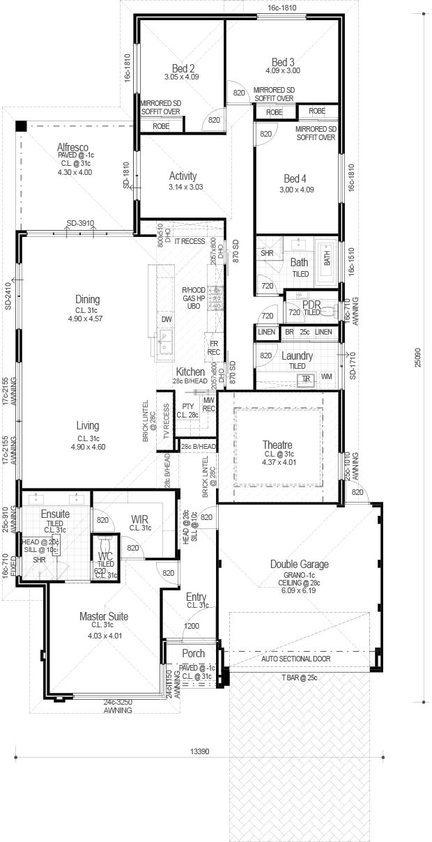 Ocean Series - The Georgia - Floorplan