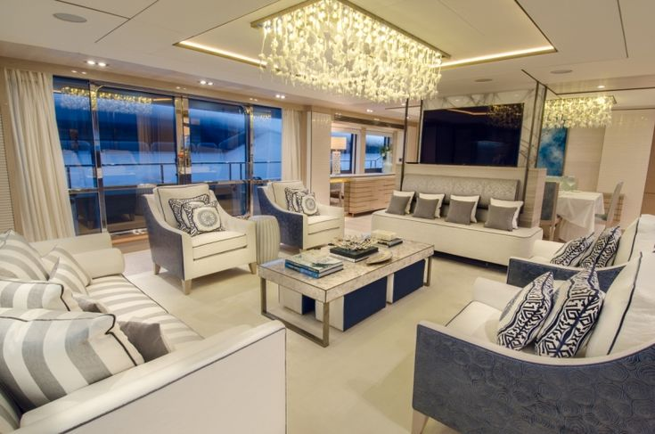 Carpeting adds to the décor by using color, patterns, and pile heights. #InteriorDesign #Luxury #Fancy #Yacht #Design #Decor