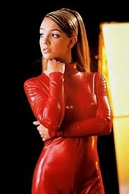 Britney Spears- Ooops I Did It Again video. That red pleather jumpsuit was somethin else.