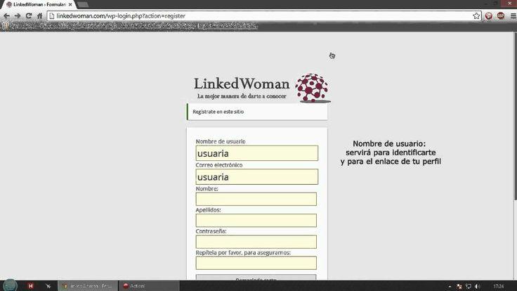 Registro en LinkedWoman.com