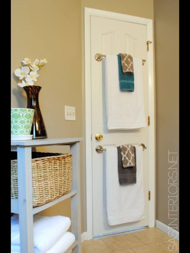 25 best ideas about space saving hangers on pinterest tank top storage small closet - Towel racks for small spaces concept ...