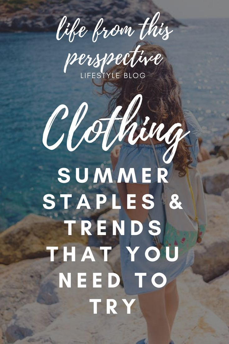 Summer clothing trends that you need to try. Off the shoulder, dresses and playsuits...