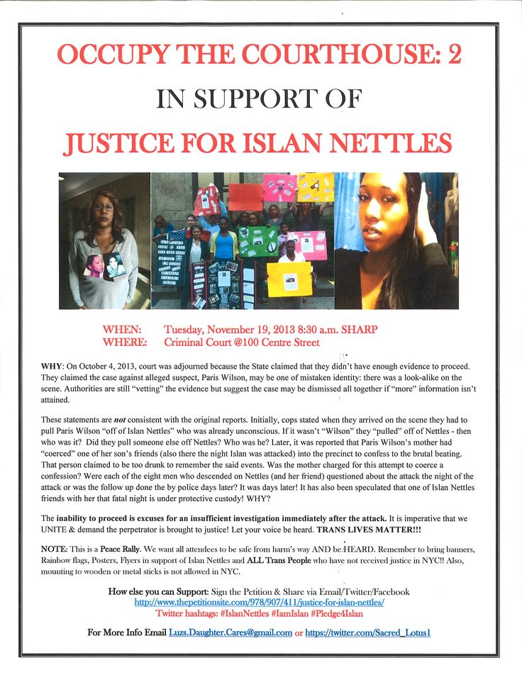 Occupy the Courthouse 2: Justice for Islan Nettles!