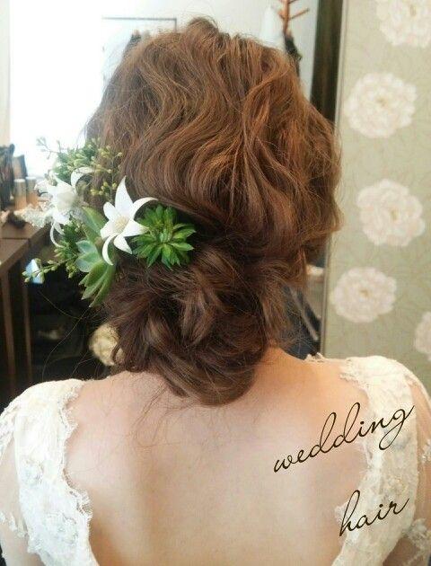 #ヘアアレンジ#ヘアメイク#wedding#bridal#ヘアスタイル#hairdo#結婚式#hair#ウェディング#多肉植物